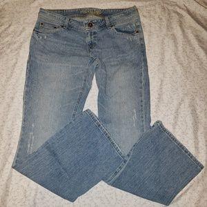 AEO | AE Artist distressed straight leg jeans